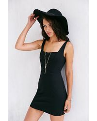 Silence + Noise - Black Silence Noise Forced Apart Knit Bodycon Dress - Lyst