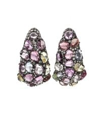 Arunashi - Purple Multicolor Sapphire Earrings - Lyst