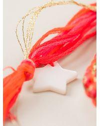 Aurelie Bidermann - Orange Beaded Bracelet - Lyst
