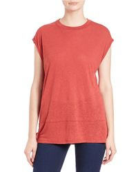 Free People - Red Knit Muscle Tee - Lyst