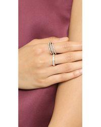 Shashi - Metallic Tracy Eternity Band Ring - Gold/Clear - Lyst