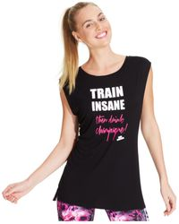 Betsey Johnson - Black Cap-Sleeve Train Insane Tee - Lyst