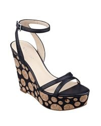 Nine West | Black Anadulo Wedge Sandals | Lyst