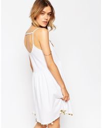ASOS | White Sundress With Coin Hem | Lyst
