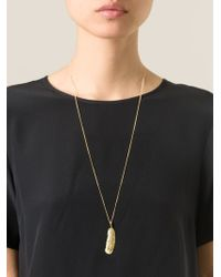 Wouters & Hendrix - Yellow Long 'feather' Necklace - Lyst