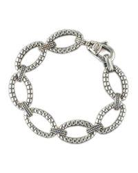Lagos - Metallic Sterling Link Bracelet for Men - Lyst