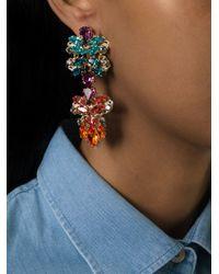 Anton Heunis | Blue Crystal Embellished Earrings | Lyst