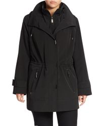 Gallery | Black Plus Mockneck Collar Water-repellant Jacket | Lyst