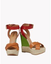 DSquared² - Brown Espadrillas Wedges - Lyst