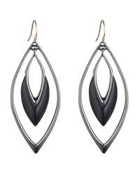 Alexis Bittar - Black Orbiting Wire Earring - Lyst