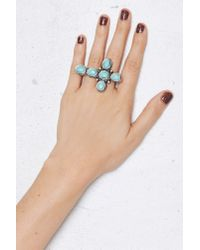 Nasty Gal | Blue Sedona Cross Ring | Lyst
