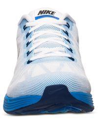 Nike - Blue Men's Lunarglide 6 Running Sneakers From Finish Line for Men - Lyst