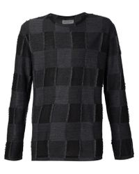 Yohji Yamamoto - Black Checked Sweater for Men - Lyst