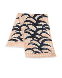 KENZO | Orange Apricot Leaves Scarf | Lyst