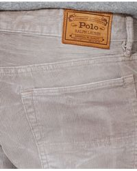 Polo Ralph Lauren - Gray Straight-Fit 5-Pocket Corduroy Pants for Men - Lyst