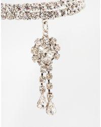 ASOS - Metallic Crystal Arm Cuff - Lyst