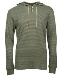 Volcom | Green Omaha Slim-fit Hooded Thermal Shirt for Men | Lyst