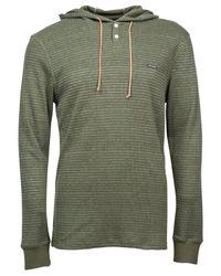 Volcom | Green Omaha Slim-fit Hooded Thermal Shirt for Men | Lyst