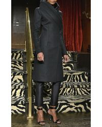 Brandon Maxwell - Black Cashmere Double Collar Coat - Lyst