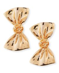 Tuleste - Pink Large Bow Earrings - Lyst