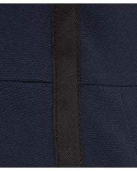 Paul Smith Black Label - Blue Navy Grosgrain Trim Wool-blend Shift Dress - Lyst