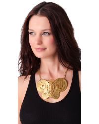 Kenneth Jay Lane | Metallic Butterfly Necklace | Lyst
