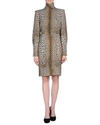 Emanuel Ungaro - Brown Embroidered Leopard Print Dress - Lyst