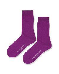 TOPSHOP - Purple Falke Cosy Wool Ankle Socks - Lyst