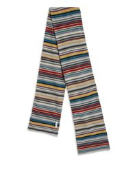 Paul Smith - Gray Striped Scarf for Men - Lyst