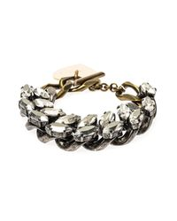 Lanvin | Metallic Susan Crystal And Chain Bracelet | Lyst