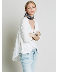 Free People | White We The Free Frontier Henley | Lyst