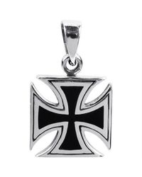 Aeravida | Metallic Maltese Iron Cross Faith .925 Sterling Silver Pendant | Lyst