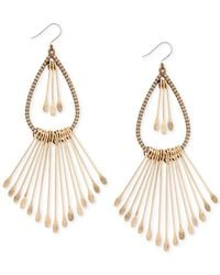Lucky Brand - Metallic Gold-tone Paddle Drop Earrings - Lyst