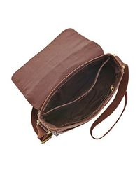 Fossil | Brown Estate Mens Ns City Bag for Men | Lyst