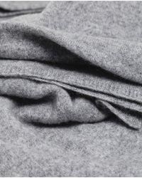 Zara | Gray Cashmere Scarf | Lyst