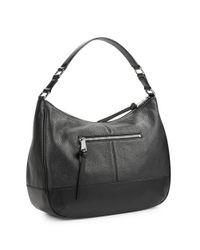 Calvin Klein | Black Leather Hobo Bag | Lyst