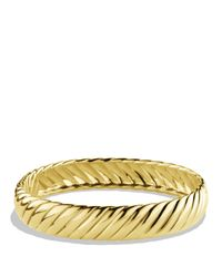 David Yurman - Metallic Sculpted Cable Bracelet in Gold - Lyst