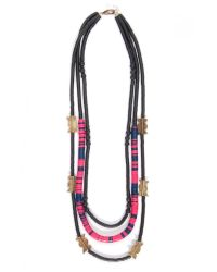 Theodosia - Triple Strand Chunky Necklace In Pink - Lyst