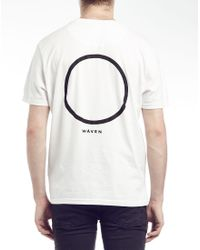 WÅVEN - White T Shirt With Circle Print for Men - Lyst