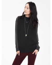 Banana Republic | Black Envelope-side Sleeveless Pullover | Lyst
