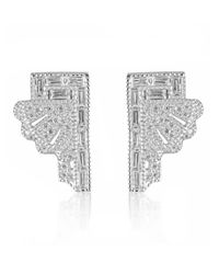 V Jewellery | Metallic Deco Fan Earrings | Lyst