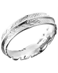 Aeravida | Metallic Spiritual Embrace Feather Wrap .925 Sterling Silver Ring | Lyst