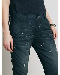 Free People - Blue Nsf Womens Edith Washed Pant - Lyst