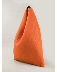 MM6 by Maison Martin Margiela - Orange Perforated Cotton Bucket Tote - Lyst