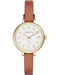 Marc Jacobs | Metallic Mbm1351 Sally Gold-plated And Leather Watch | Lyst