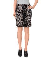 Les Copains - Black Knee Length Skirt - Lyst