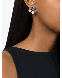 Eshvi - Pink Geometric Shapes Earrings - Lyst