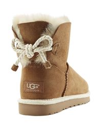 UGG - Natural Selene Suede Boots - Brown - Lyst