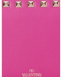 Valentino - Purple Rockstud Medium Leather Wallet - Lyst