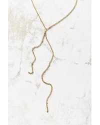 Urban Outfitters - Metallic Baby Chain Lariat Necklace - Lyst